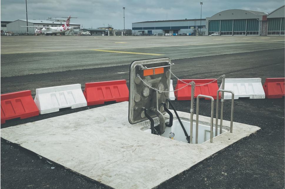 Терминал для топлива в международном аэропорту